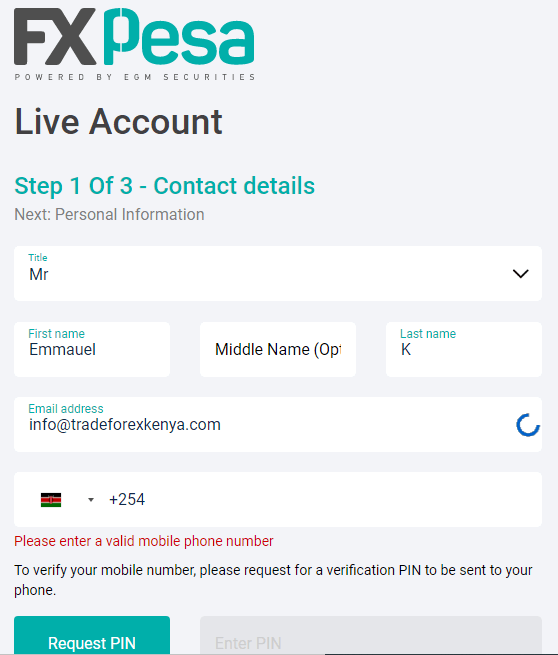 Opening a Forex Trading Account in Kenya