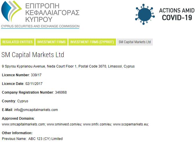 Scope Markets CySEC regulation